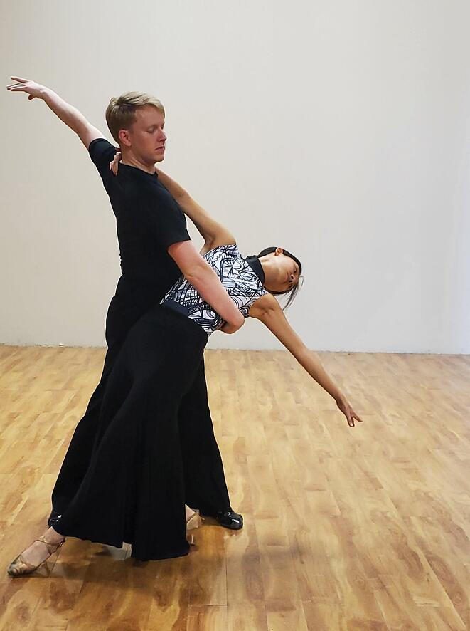 Robbie and Ruth in practice
